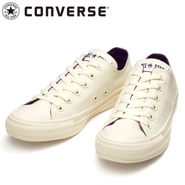 コンバース シューズ オールスター コスモインホワイト OX スニーカー ホワイト パープル 31303822