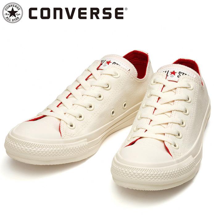 コンバース オールスター コスモインホワイト OX スニーカー ホワイト レッド シューズ 31303821