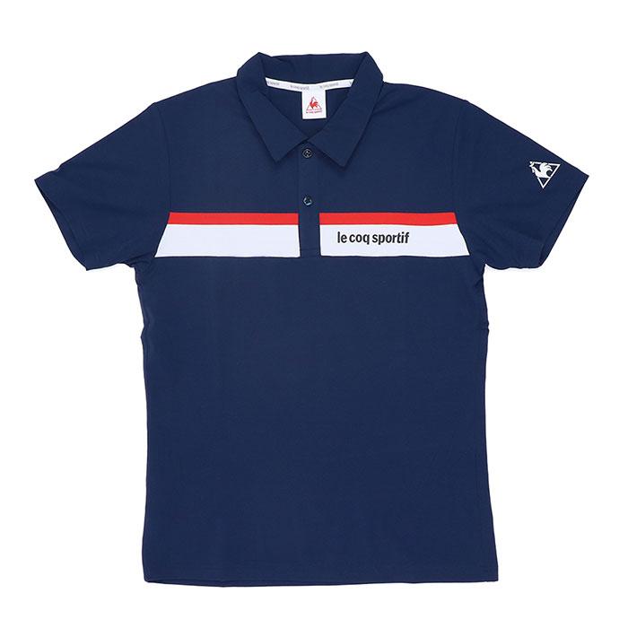 LECOQ ポロシャツ ルコック メンズ 半袖 スポーツ ストレッチ ネイビー カジュアル 吸汗速乾 QMMRJA40