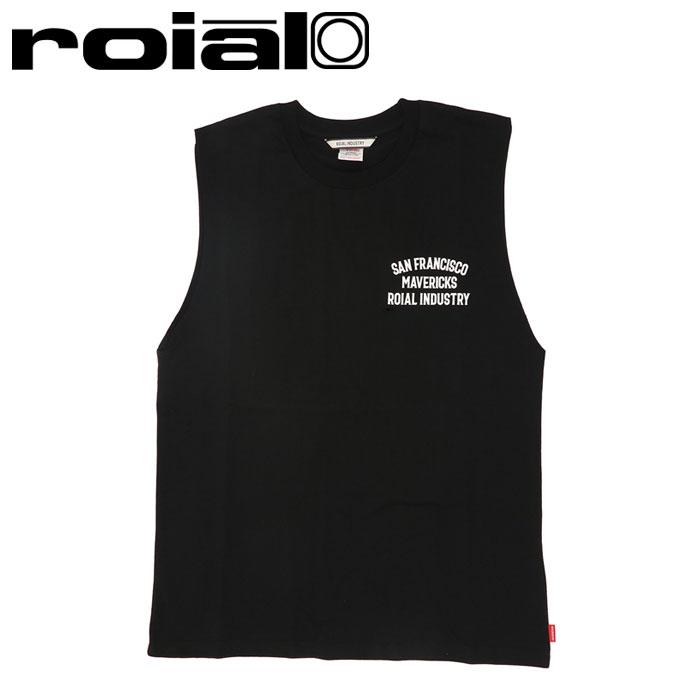 ロイアル Tシャツ メンズ タンクトップ ノースリーブ バックプリント ブラック ROIAL R102MTT01