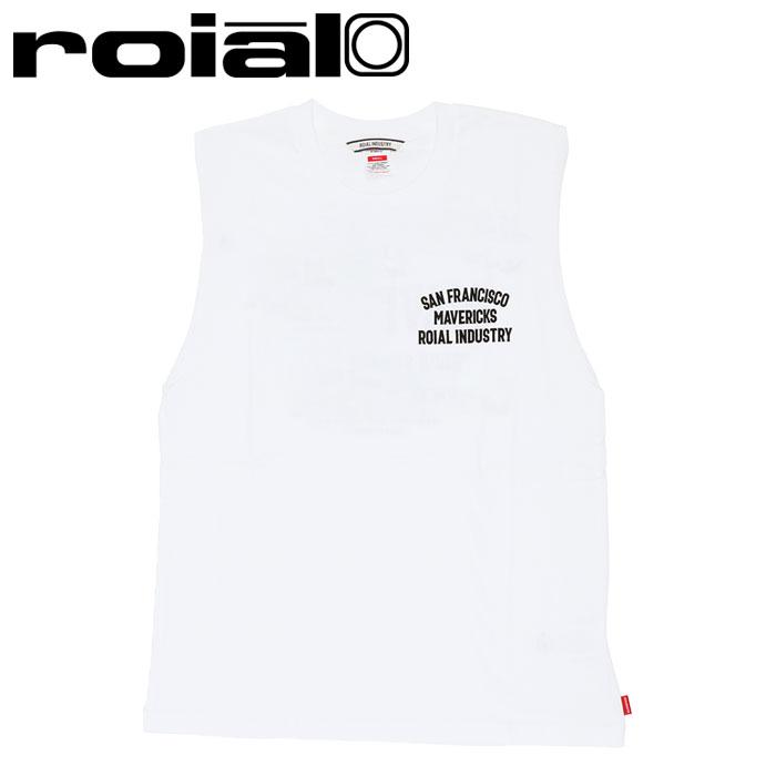 ロイアル ノースリーブ メンズ Tシャツ ホワイト バックプリント タンクトップ ROIAL R102MTT01