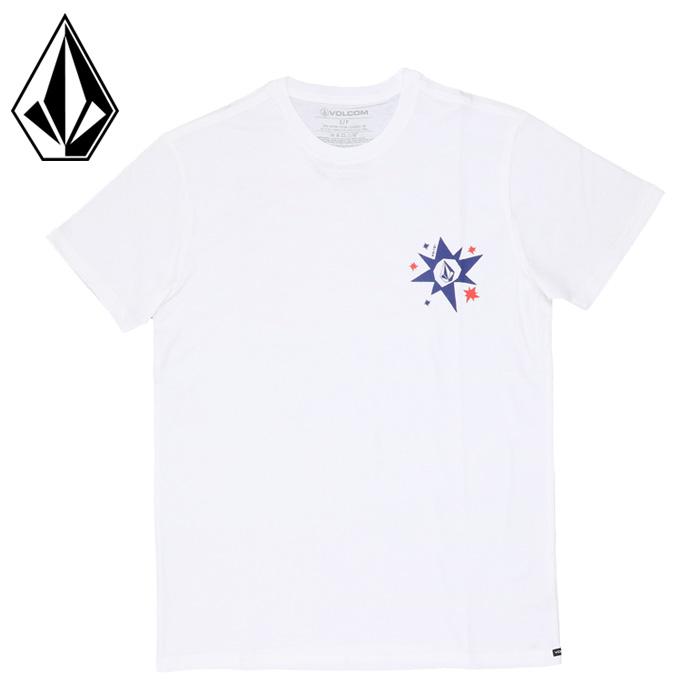 ボルコム メンズ Tシャツ 半袖 ショートスリーブ ホワイト ストリート カジュアル VOLCOM AF522101