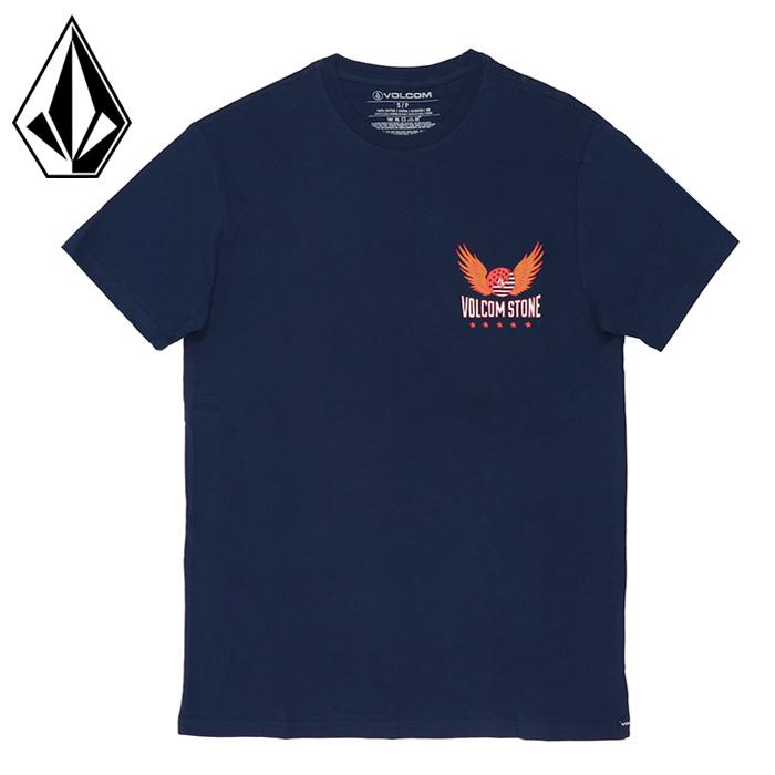 ボルコム 半袖 Tシャツ メンズ ストリート ショートスリーブ ネイビー カジュアル VOLCOM AF522104