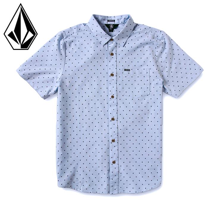 ボルコム メンズ 半袖 シャツ レギュラーシャツ カジュアルシャツ ドット柄 VOLCOM A0412102