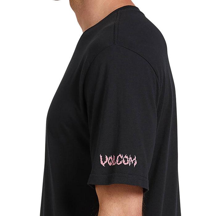 ボルコム メンズ 半袖 Tシャツ ストリート カジュアル ブラック プリントTシャツ VOLCOM A5022002