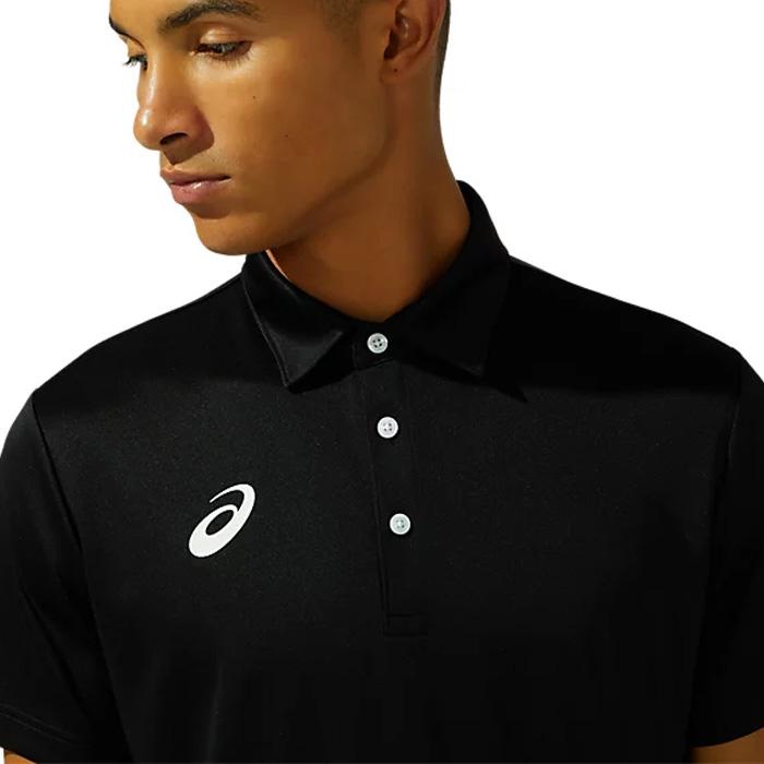 アシックス メンズ ポロシャツ トレーニングウェア 半袖 ブラック ジム ASICS 2031C240 001