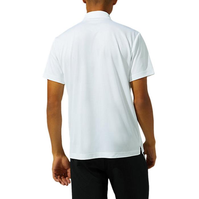 アシックス ベーシック 半袖 メンズ ポロシャツ ホワイト スポーツ ASICS 2031C240 100