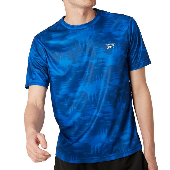 リーボック 半袖 Tシャツ UVカット 水陸両用 メンズ カジュアル スポーツ ロゴ ブルー 420762