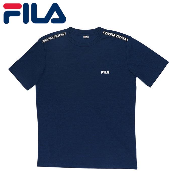 フィラ メンズ 半袖 Tシャツ UVカット 水陸両用 ネイビー アウトドア FILA 420272