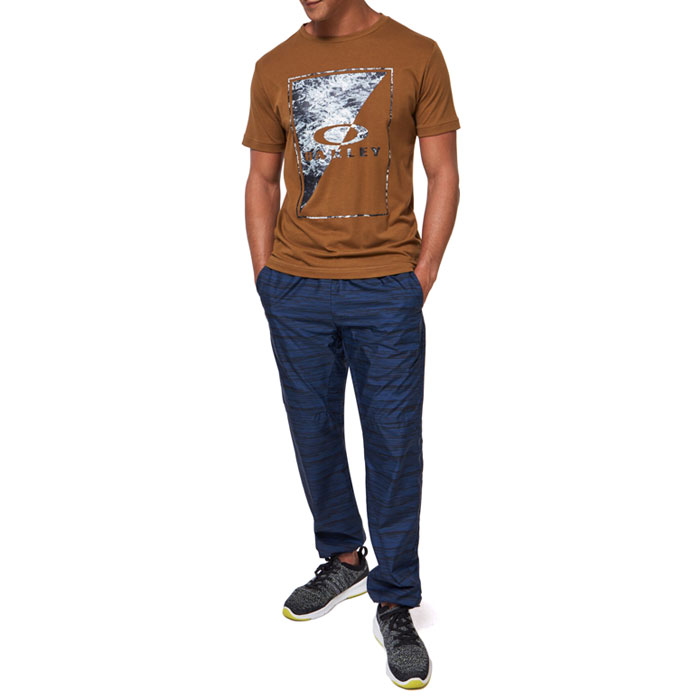 オークリー スポーツ Tシャツ メンズ 半袖 ロゴ 吸汗速乾 アウトドア ブラウン OAKLEY FOA401423
