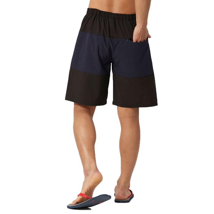 サーフパンツ フィラ メンズ水着 サーフトランクス ロゴ ストレッチ素材 420234 黒