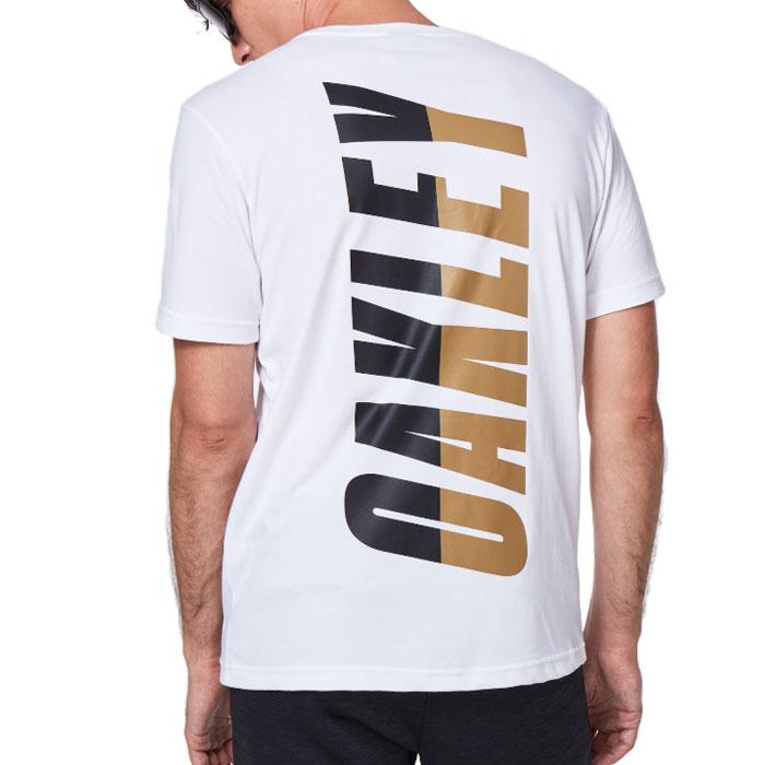 オークリー Tシャツ メンズ 半袖 スポーツ アウトドア トップス 吸汗速乾 ホワイト OAKLEY FOA401424
