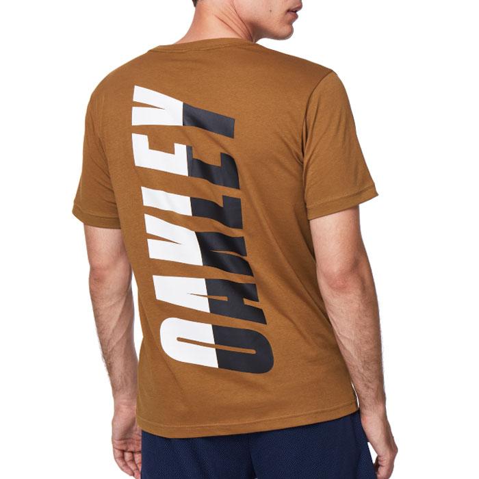 オークリー スポーツ メンズ 半袖 Tシャツ ロゴ アウトドア ブラウン 吸汗速乾 OAKLEY FOA401424