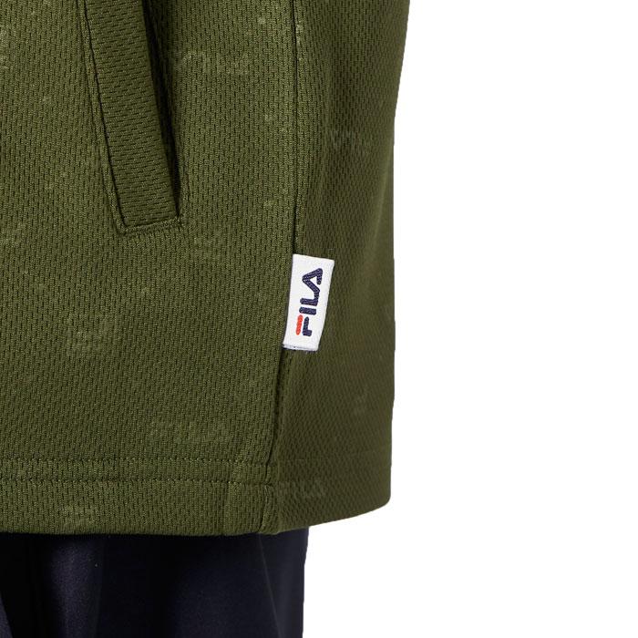 フィラ ラッシュガード メンズ UVカット ジップアップ 長袖 水陸両用 420241 カーキ