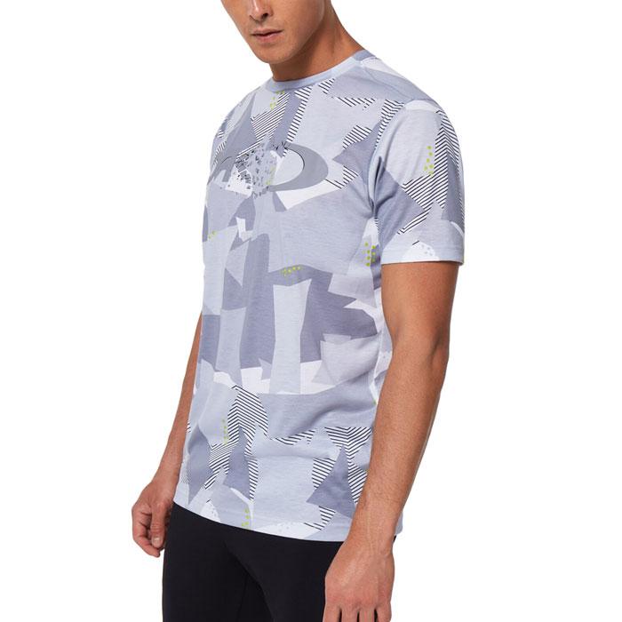 オークリー Tシャツ メンズ 半袖 スポーツ グラフィック 吸汗速乾 ジム ホワイト OAKLEY FOA401589
