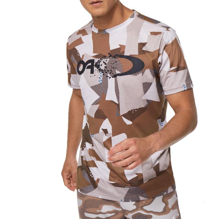オークリー メンズ スポーツ 吸汗速乾 Tシャツ 半袖 アウトドア ロゴ ブラウン OAKLEY FOA401589