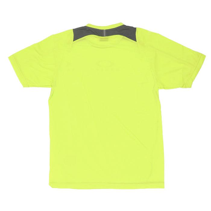 オークリー メンズ スポーツ 吸汗速乾 Tシャツ 半袖 トレーニング イエロー OAKLEY FOA401653