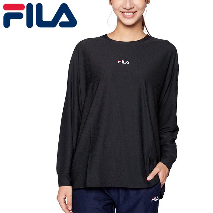 フィラ フィットネス 長袖 Tシャツ レディース UVカット ヨガ ストレッチ ブラック FILA 441600