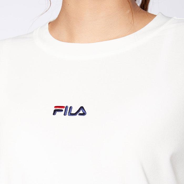 フィラ 吸水速乾 ストレッチ レディース Tシャツ 長袖 フィットネス オフホワイト ヨガ FILA 441600