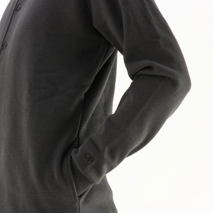 オーシャンパシフィック カーディガン メンズ 長袖 裏起毛 グレー サーフ ムートン OP 530017