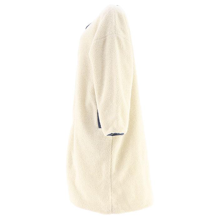 ボアジャケット OP レディース アウター ミドル丈 オーピー ホワイト カジュアル 550208