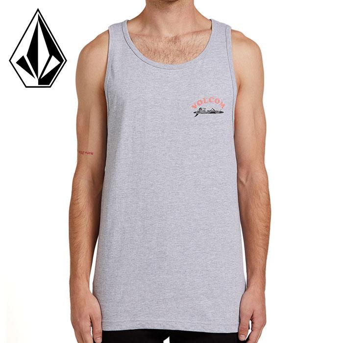 ボルコム タンクトップ メンズ ストリート ノースリーブ グレー Tシャツ SKELAX TANK VOLCOM A4522002