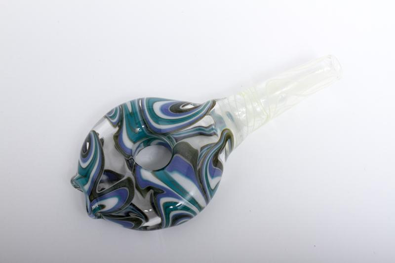 """Hand made Glass Mouthpiece"""" Hazy """"ハンドメイドグラスマウスピース """"ヘイジー""""(ドーナツ)"""