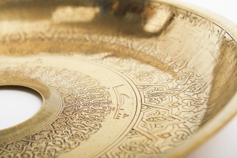 Shika Electro Mamluk Gold Trey シーカマムラックゴールドトレイ 24cm