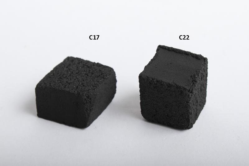 【SALE】COCOBRICO ココブリコ C17 ココナッツ炭 17mm (フラット)108pcs