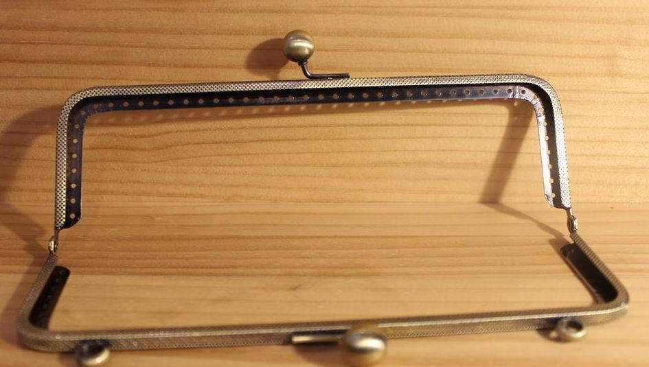 ◆Ku-80◆【口金】20cm シンプルな口金 角型 しっかりタイプ【梱包スペース10】