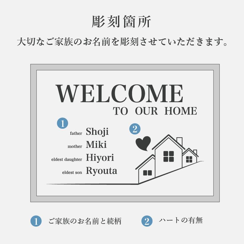 【A4 木製額入り】モノトーン ウェルカムポスター