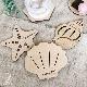 【名入れ】 木製 貝殻コースター