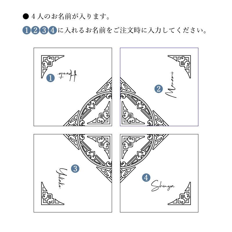 【カルテットコースター ネイティブ柄】4枚セット