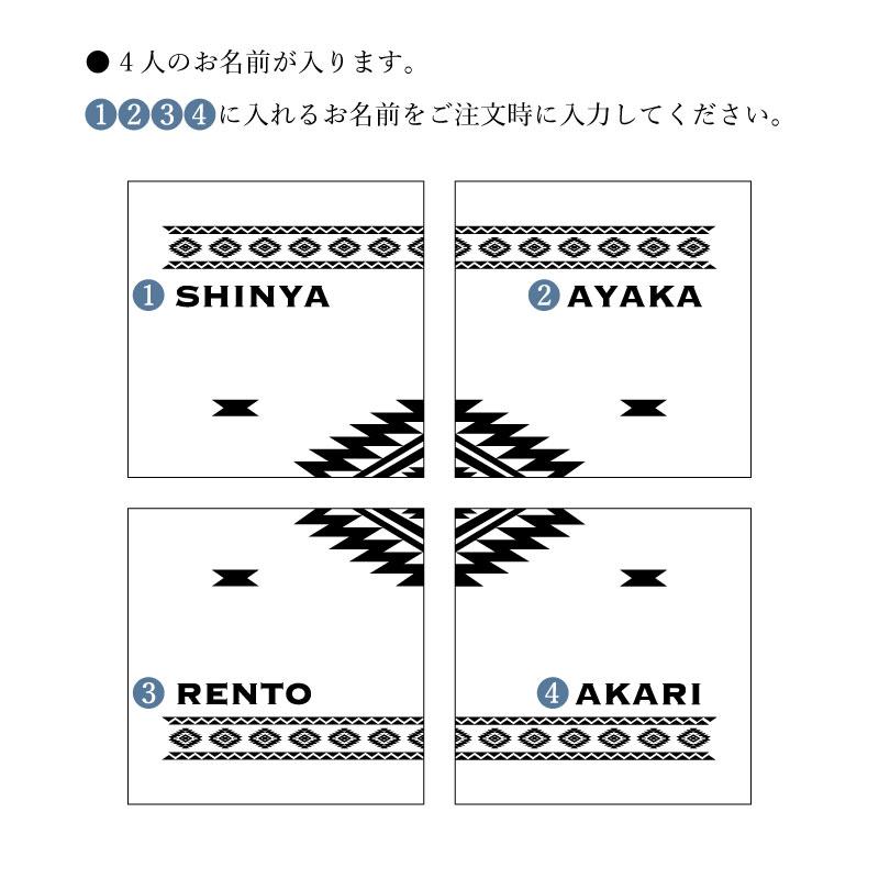 【カルテットコースター オルテガ柄】4枚セット