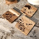 名入れ 木製 アウトドア コースター【オノ】