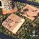 名入れ 木製 アウトドア コースター【フラワー】