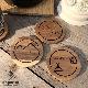 名入れ 木製 アウトドア コースター【シンプルキャンプ】