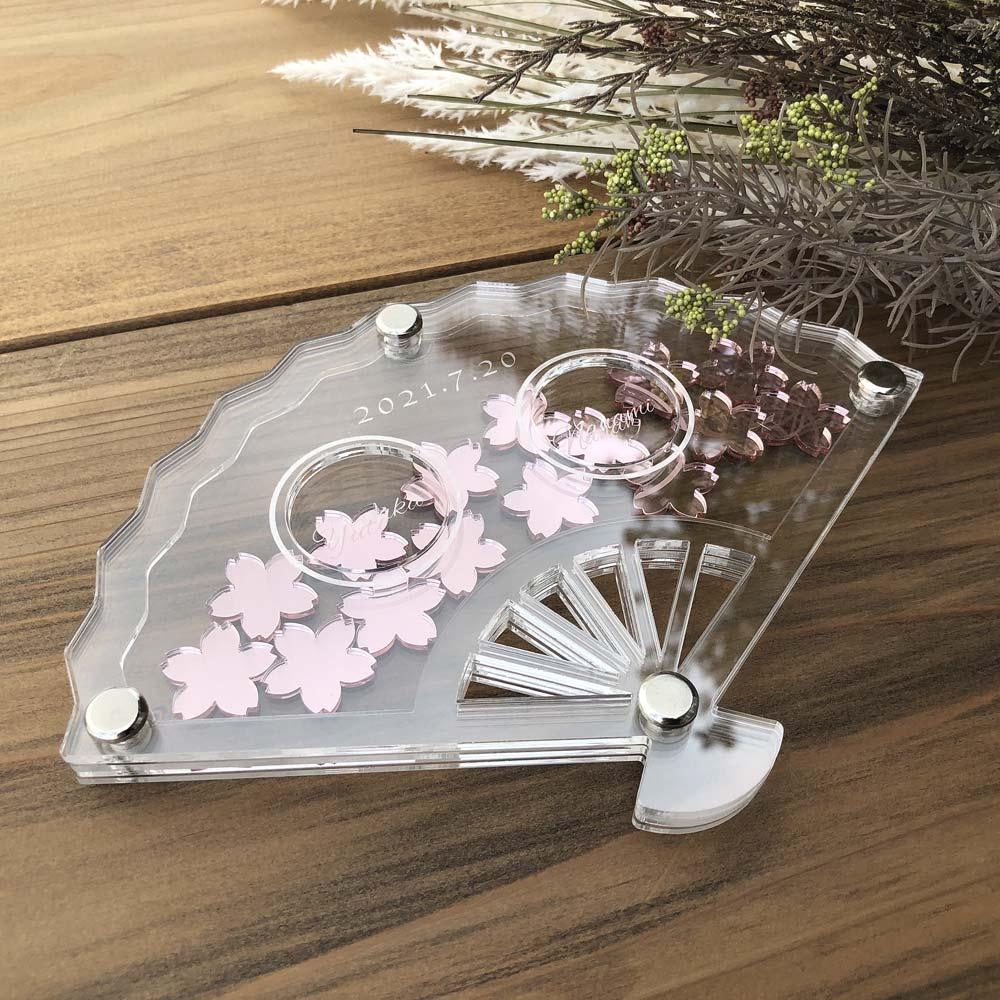 新商品【扇子型 リングピロー 結婚式 和婚】送料無料