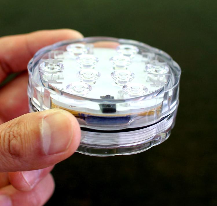 「花うるるハーバリウム ライト・コースター LED照明 同梱OK (丸型)(※単4電池3本別売」