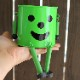 【全6色♪】人気沸騰中のにっこりスマイル ブリキ製プランターポット 【Briki Man(ブリキマン)】Mサイズ(3号ポット用)