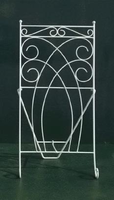 折りたたみ式 ハンギングバスケット専用 フラワースタンド(アイアン製)「◆*QUATTRO(クアトロ)*ロングタイプ◆」(アイアン 雑貨 ガーデニング スタンド)