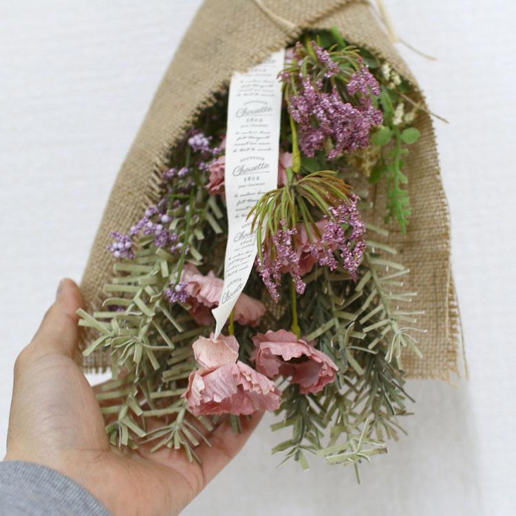 【送料無料】フェイク ドライフラワー ブーケ 6種類 (造花) スワッグ