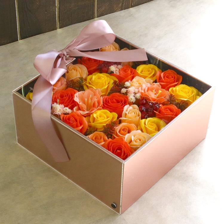 【送料無料】「 ソープフラワー マリー BOX 全4色 」