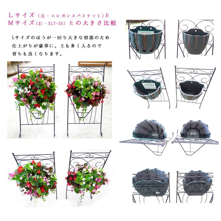 【送料無料】花うるる特製アレンジ・おまかせハンギングバスケット〜Lサイズ(開花期:4月から最長半年)