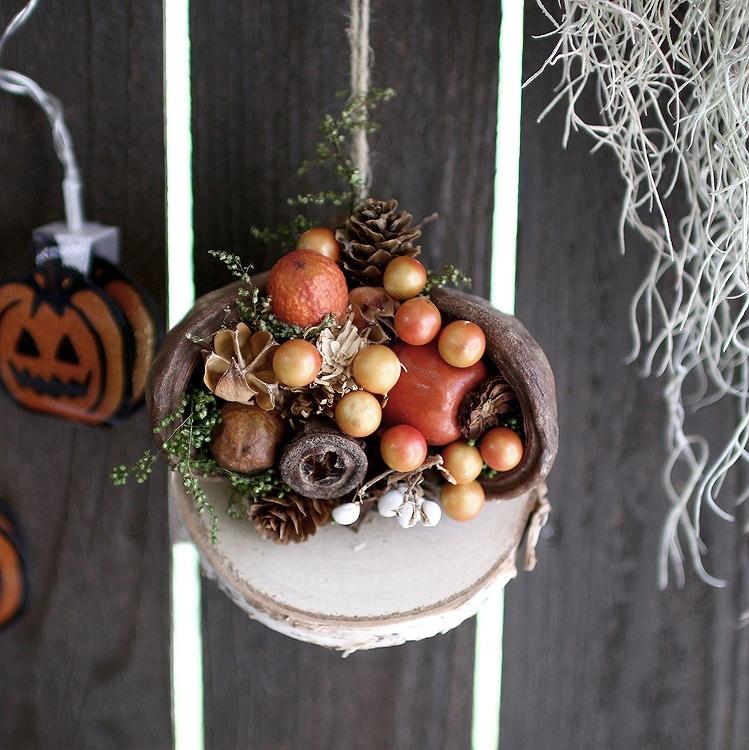 ハロウィン 飾り HWナチュラルナッツ 秋の収穫【HW509】