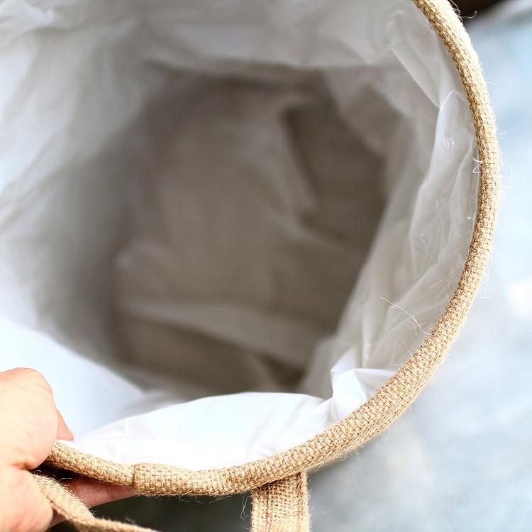 【全2色♪】人気 スマイル  「スマイル ジュート 鉢カバー L」【4482-A】ニコちゃん  プランター プランターカバー 観葉植物 キュート ガーデニング雑貨 笑顔