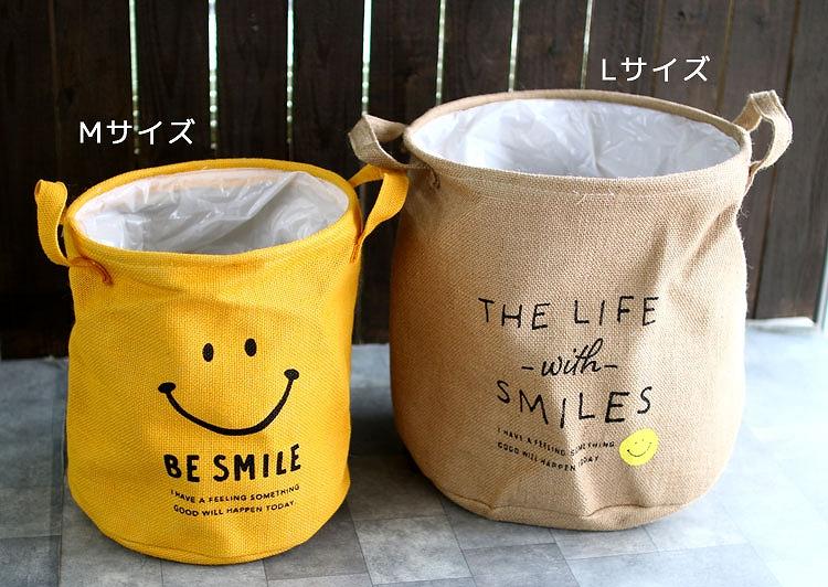 【全2色♪】人気 スマイル  「スマイル ジュート 鉢カバー M」【4482-B】