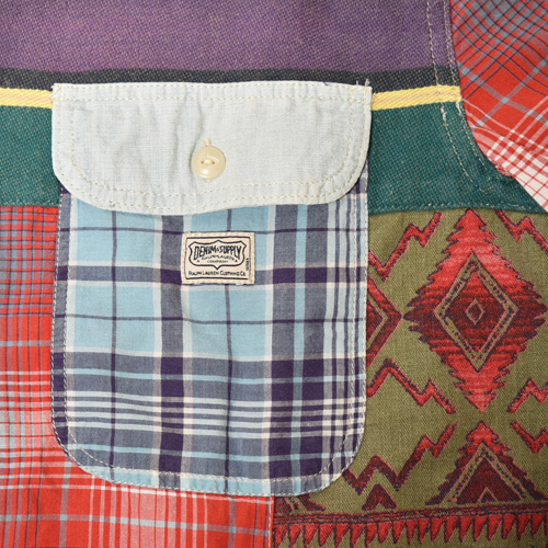 ・Polo Ralph Lauren/L/S Patchwork Shirt(ラルフローレン パッチワークシャツ)サイズM [z-3388]