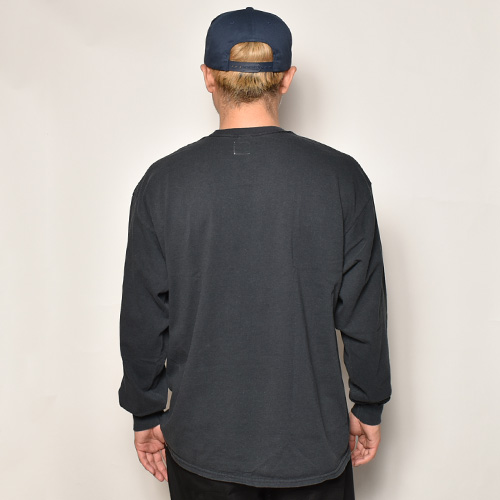 Towncraft/L/S Vintage Faded T-Shirt(タウンクラフト Tシャツ)ブラック [a-3984]
