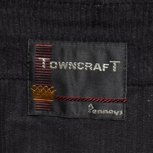 Towncraft×US/Zip Up Corduroy Parka(タウンクラフト×アス コーデュロイフードジャケット)ブラック [a-2810]